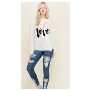 Tops - CINDI Love Heart Sweatshirt
